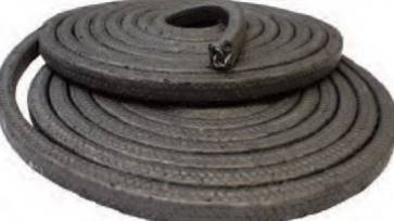 rope//braided 10mm Square x 1m long graphite Gland packing